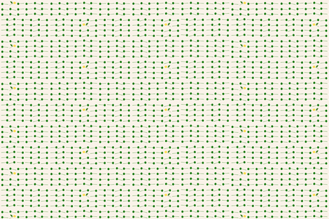 pompom stripe green fabric by frumafar on Spoonflower - custom fabric