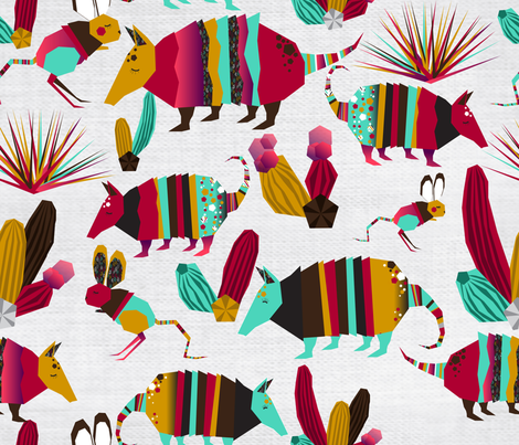 desert's  party fabric by holaholga on Spoonflower - custom fabric