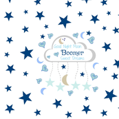 Moon Dreams 2 XL- blue   PERSONALIZED for Boomer