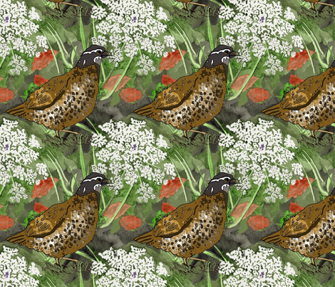 queen_anne_quail_3 fabric by leroyj on Spoonflower - custom fabric