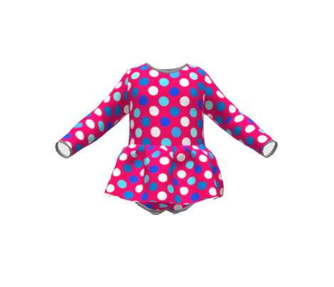 Kingfishers and Flamingos Polka Dots by Cheerful Madness!!
