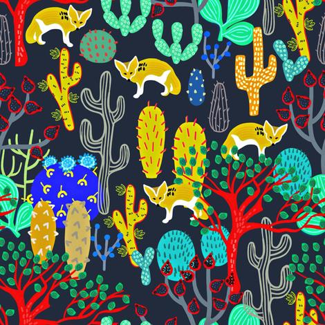 Fennec Fox (Vulpes Zerda) fabric by susan_polston on Spoonflower - custom fabric