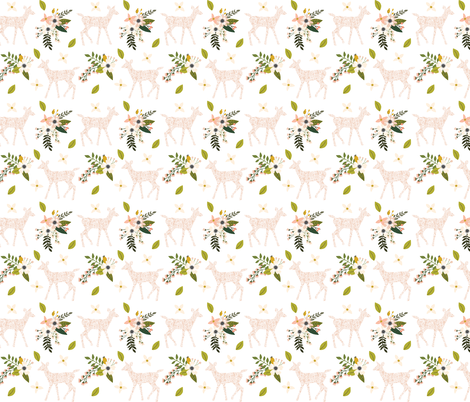 blush sprigs and blooms fawn // small fabric by ivieclothco on Spoonflower - custom fabric