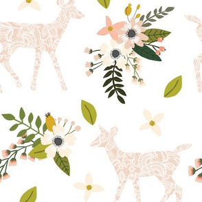 blush sprigs and blooms fawn