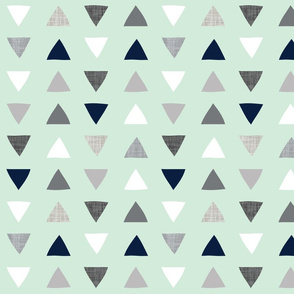 hand drawn triangles into the wild // mint