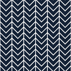 navy linen chevron