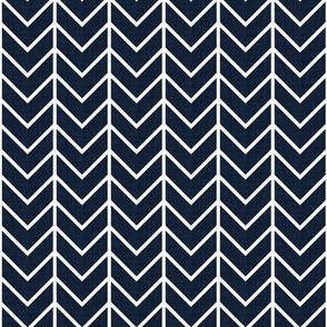 navy linen chevron