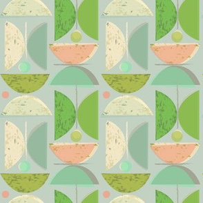 semicircle stacks - green apple