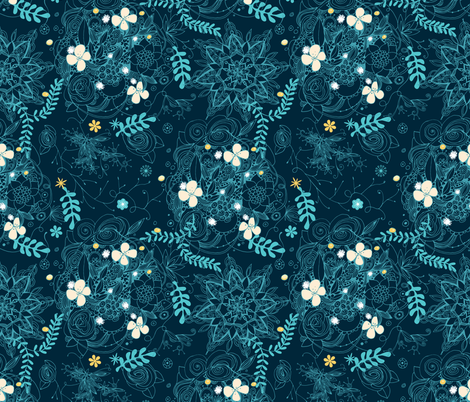 Dark floral delight fabric by camcreative on Spoonflower - custom fabric
