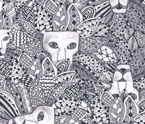 African Safari fabric by maredesigns on Spoonflower - custom fabric
