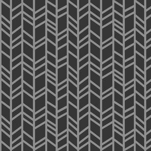 Crazy herringbone - charcoal/grey