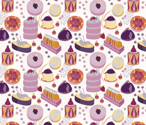 Patisserie_-_2 fabric by abbyhersey on Spoonflower - custom fabric