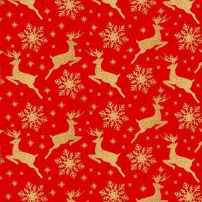 Reindeer and golden stars/ Renos y estrellas doradas