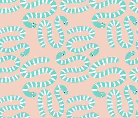 Spring Snakes fabric by anda on Spoonflower - custom fabric