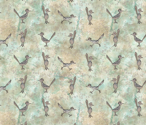 Roadrunners and Tracks fabric by mgdoodlestudio on Spoonflower - custom fabric