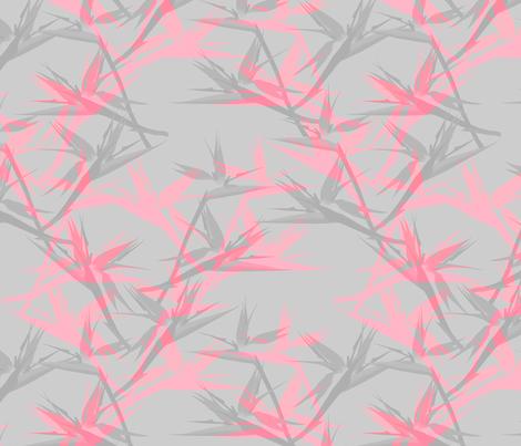 BirdofParadise_cool_pink fabric by youdesignme on Spoonflower - custom fabric