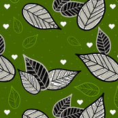 leaves and hearts