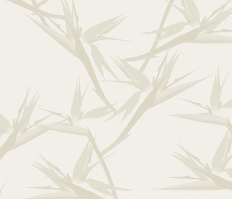 BirdofParadise_stone fabric by youdesignme on Spoonflower - custom fabric