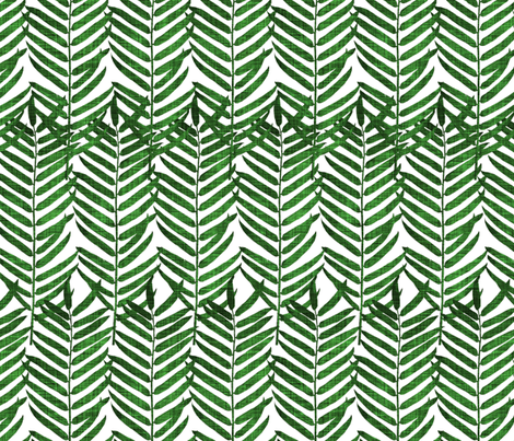 Luxe Palm Leaf (emerald) fabric by nouveau_bohemian on Spoonflower - custom fabric