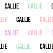 callie custom name fabric pastel girls name - contact BEFORE purchase to customize