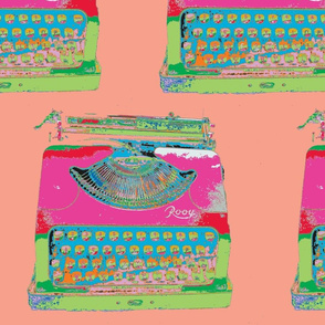 Jack Kerouac's Typewriter, peach background