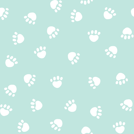 paws paw fabric silhouette cat and dog paws fabric - petfriendly