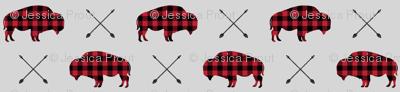 buffalo and arrows (small scale) || grey