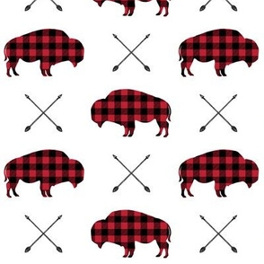 buffalo with arrows || plaid