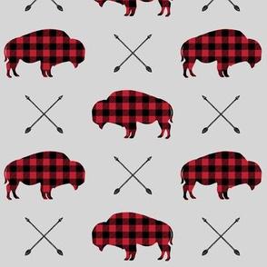 buffalo and arrows || grey