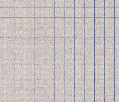 FRENCH_LINEN_GRID fabric by holli_zollinger on Spoonflower - custom fabric