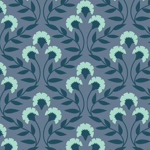 Trellis Floral Periwinkle