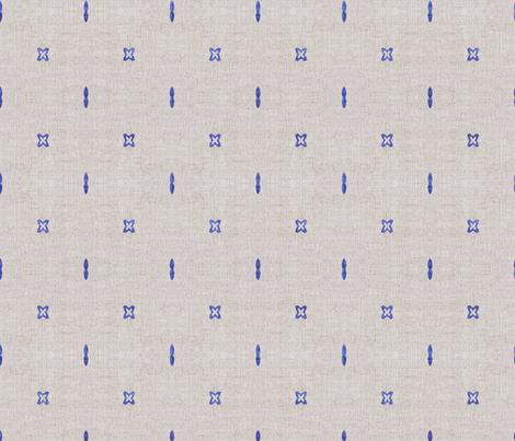 FRENCH_LINEN_BOHO_INDIGO fabric by holli_zollinger on Spoonflower - custom fabric