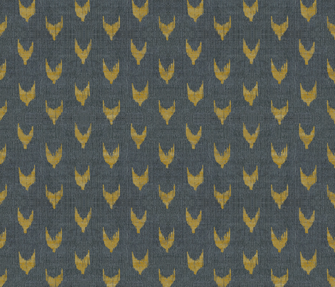 FRENCH_LINEN_IKAT_GOLDEN fabric by holli_zollinger on Spoonflower - custom fabric