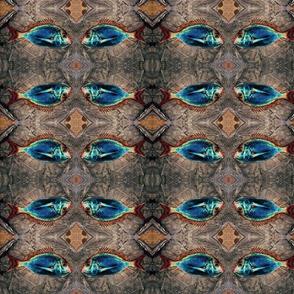 fish in bag grey blue