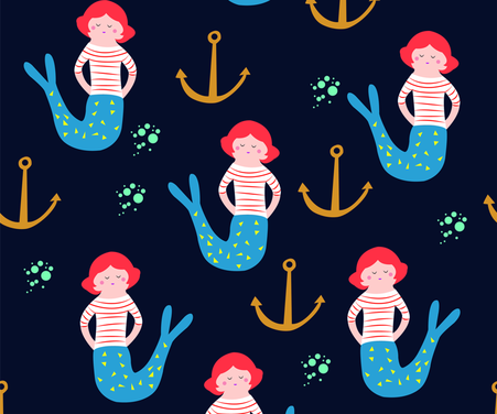 Mermaid fabric by gina_e on Spoonflower - custom fabric