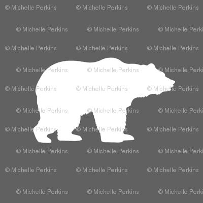 white bears on gray
