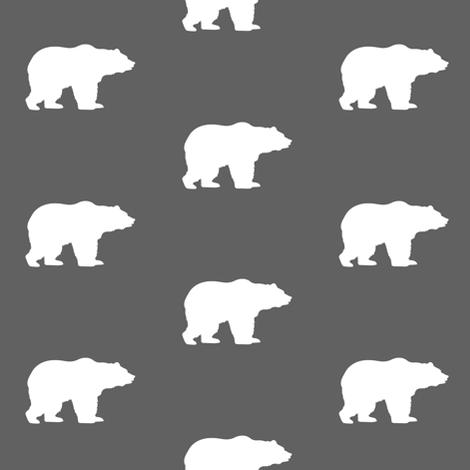 white bears on gray fabric by speakeasyworks on Spoonflower - custom fabric