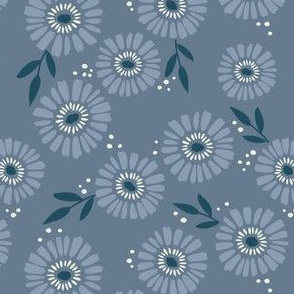Daisy Patch Periwinkle