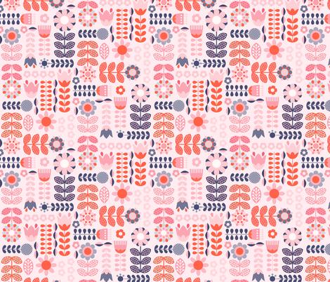 Swedish Folk Art Colorway6 fabric by enariyoshi on Spoonflower - custom fabric