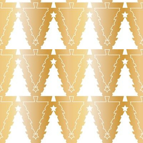 Graphic Christmas trees_Gold