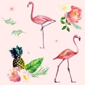 Flamingo Floral Park - Pink
