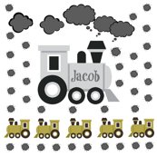 Choo Choo Gray - Medium-PERSONALIZED Jacob
