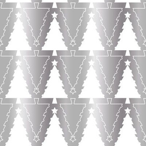 Graphic Christmas trees_Silver