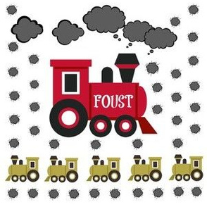 Choo Choo Red - Medium -PERSONALIZED- FOUST