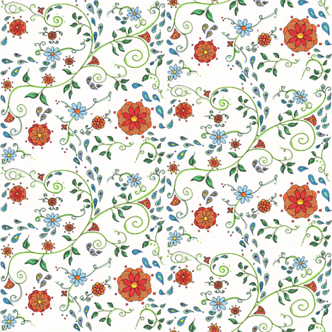 Floral & Paisley fabric by bohojouel on Spoonflower - custom fabric