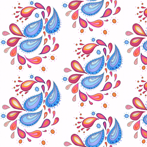 Bright Paisley fabric by wild_bumblebee_designs on Spoonflower - custom fabric