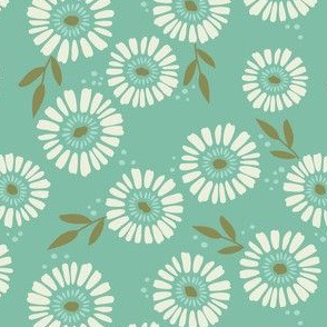 Daisy Patch Teal