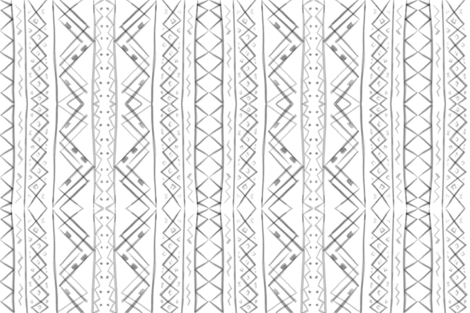 Tribal in White fabric by averielaneboutique on Spoonflower - custom fabric