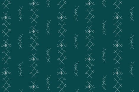 Tribal in Teal fabric by averielaneboutique on Spoonflower - custom fabric