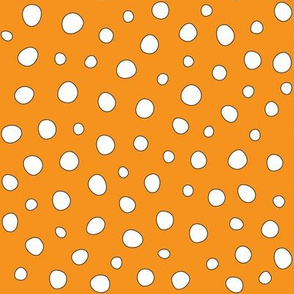 White Dots on Orange
